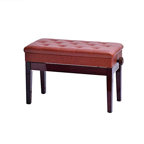 Why Choose Jdeepued Piano Stool Double Straight Leg with Bookshelf Lifting Stool Solid Wood Piano St...