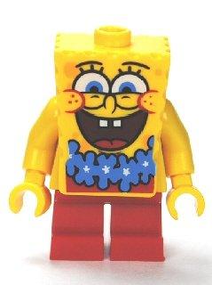 LEGO Bob Esponja Azul Lei Minifigura de Split 3818 (Embolsado)