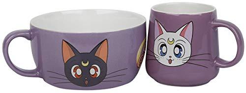 Sailor Moon Frühstücks-Set Luna & Artemis