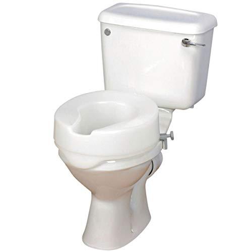 Patterson Medical Ashby Easyfit - Elevador para asiento de inodoro, 15 cm, color blanco