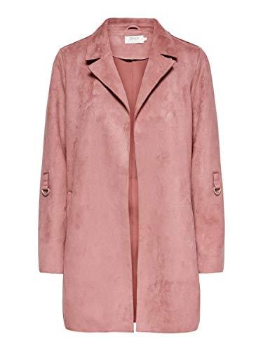 ONLY Damen ONLJOLINE Faux Suede Coat CC OTW Kunstlederjacke, Withered Rose, M