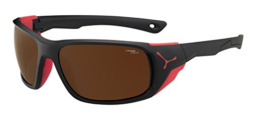 Cébé Jorasses Gafas, Unisex Adulto, Multicolor (Matt Black Red), L