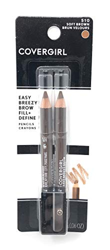CoverGirl Brow and Eye Makers Pencil - Soft Brown (510) - 2 pk