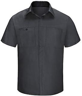 Red Kap mens Men's Short Sleeve Performance Plus Shop Shirt Shirt