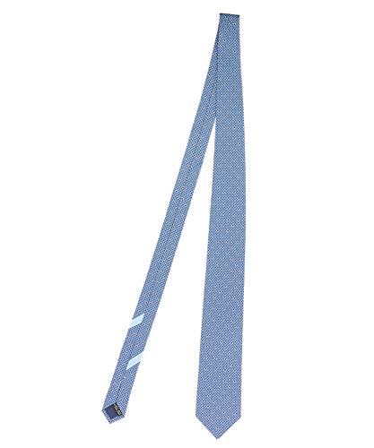 Salvatore Ferragamo Herren 702837 Hellblau Seide Krawatte