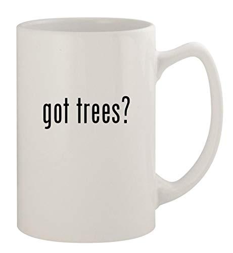got trees? - 14oz Ceramic White Statesman Coffee Mug, White