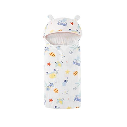 WFF Toallas de baño Toallas de baño con Capucha Infantil, Toalla de baño 100% algodón para niños para niños Ultra Suave y súper Absorbente de Albornoz 23.6 x 47.2 Pulgadas (Color : Trolley)
