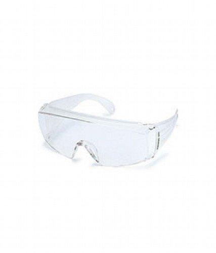 山本光学 YAMAMOTO NO.360 オーバーグラスタイプ保護めがね 上部クッションバー付き 大型眼鏡併用可 ワイドテンプル クリア PET-AF(両面ハードコートくもり止め) 日本製 JIS 紫外線カット