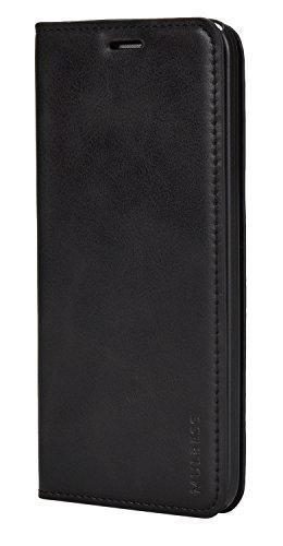 Mulbess Flip Slim Handyhülle für Asus ZenFone 2 ZE500KL Hülle Leder, Asus ZenFone 2 ZE500KL Klapphülle, Asus ZenFone 2 ZE500KL Schutzhülle, Handytasche für Asus ZenFone 2 ZE500KL Tasche, Schwarz