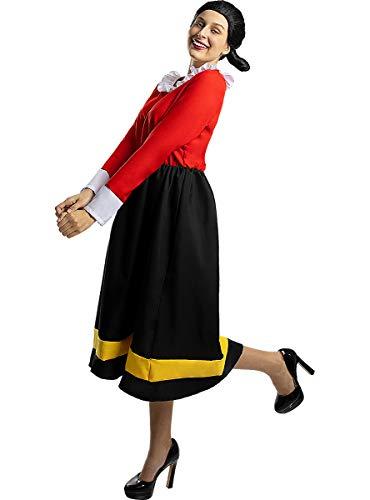 Funidelia | Disfraz de Olivia - Popeye Oficial para Mujer Talla M Popeye, Dibujos Animados - Multicolor