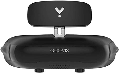 GOOVIS Young Head Mounted Display, FPV Goggles, Eye Protection with HD M-OLED Display, HMD for Games or Movies Compatible with Laptop PC Xbox One Drone PS4 Nintendo Set-top Box Smartphone - Black