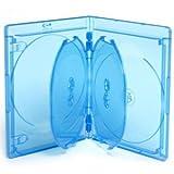 ELITE Blu-Ray Hüllen für 4 Discs - 15mm - 5 Stück - blau