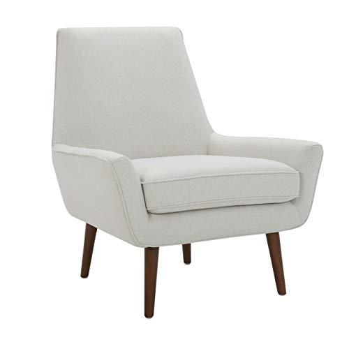 Amazon Brand – Rivet Jamie Mid-Century Modern Low Arm Accent Chair, 31'W, Chalk