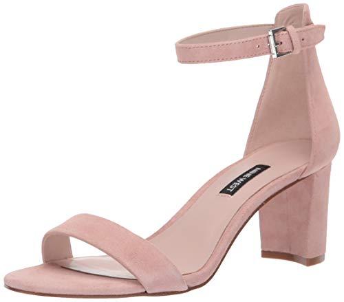 NINE WEST Women's Pruce Heeled Sandal, Modern Pink Suede, 10.5