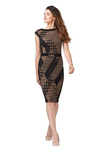Joseph Ribkoff Black/Taupe Dress Style 203617 (14)
