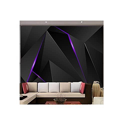 YWSZJ Foto Wallpaper Moderno Moda Irregular tecnología Forma Negro línea murales Sala Sala Dormitorio Resumen decoración casera 3D Pegatinas
