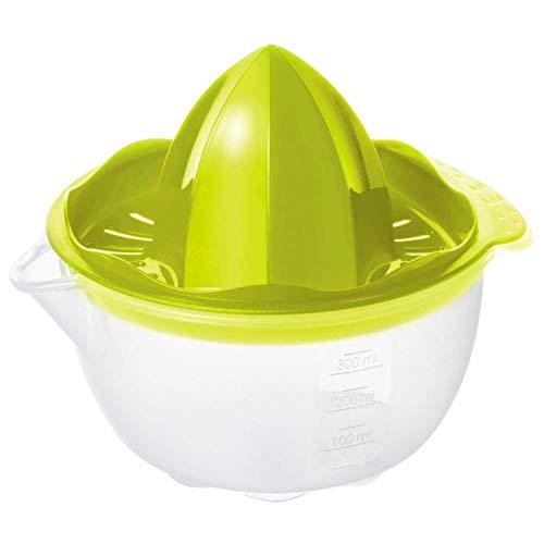 Rotho Onda Presse-agrumes 0,3L avec Conteneur, Plastique (PP) sans BPA, Transparent, 0,3L (14,5 x 12,5 x 12,0 cm)