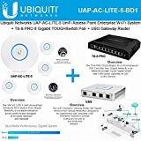 Ubiquiti UAP-AC-LITE-5 (5-Pack) UniFi AP AC LITE 11ac Gigabit Acess Point + TS-8-PRO 8-Port TOUGHSwitch PoE Switch 150W Power 8 + USG UniFi Security Gateway Router 3 Gigabit Ports VPN Site-to-Site