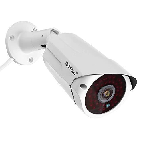 Telecamera IP di sicurezza 1080P, POE (Power Over Ethernet) Telecamera di sorveglianza esterna, Allarme rilevamento movimento, IP66 Visore notturno a infrarossi impermeabile 65FT / 20m