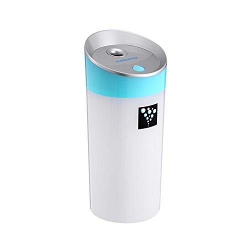 Humidificador Ultrasónico Ionizador OUTAD Difusor de Aroma de Forma Lágrima, Portable 300ml Difusor de Aceites Esenciales Aroma para Dormitorio, Hogar, Oficina, Baño, Bebé, etc (Azul)