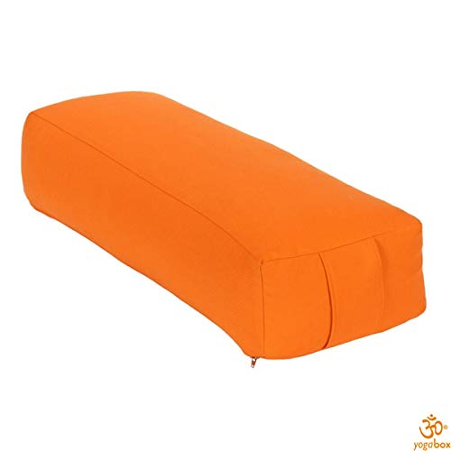 Yogabox Cuscino Rettangolare per Yoga/Cuscino Made in Germany, Albicocca/Arancio