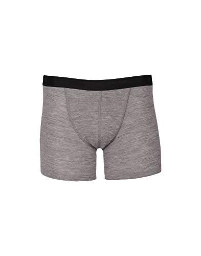 Dilling Merino Boxershorts für Herren - 100% Bio-Merinowolle Grau L