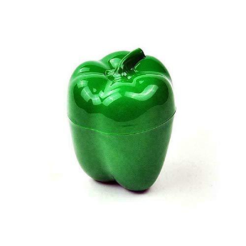 DDD123 Cocina Caja de conservación Fresca Forma de Verduras y Frutas Caja de conservación Fresca Caja sellada de Cebolla de ajo (Pimiento Verde)