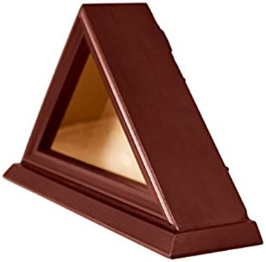 DECOMIL - 3'x5' Flag Display Case, Shadow Box (Not for Burial Funeral Flag), Solid Wood, Cherry Finish