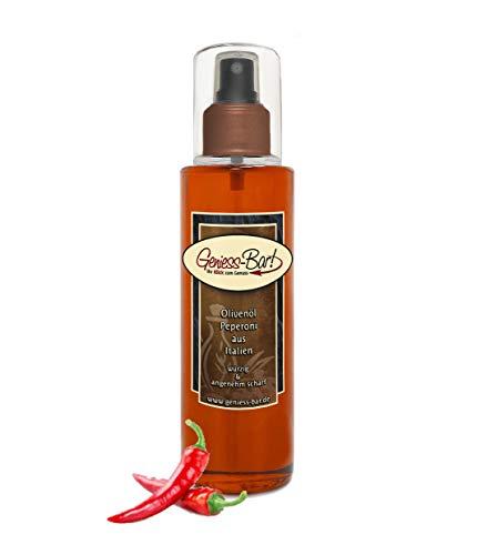 Sprühöl Peperoni Olivenöl aus Italien 0,26L Sprühflasche fruchtig, würzig kaltgepresst Pumpspray