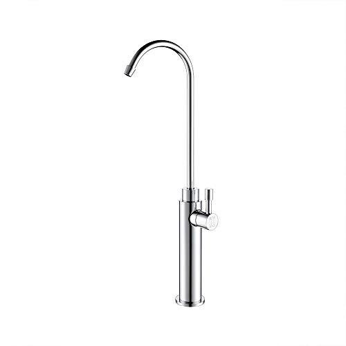 GUANGHEYUAN-J Handheld Grifo de Filtro de Agua Potable de ósmosis de Cocina, Plato de Agua Potable Recto Grifo Giratorio Simple Oficina de Cobre Puro para el baño