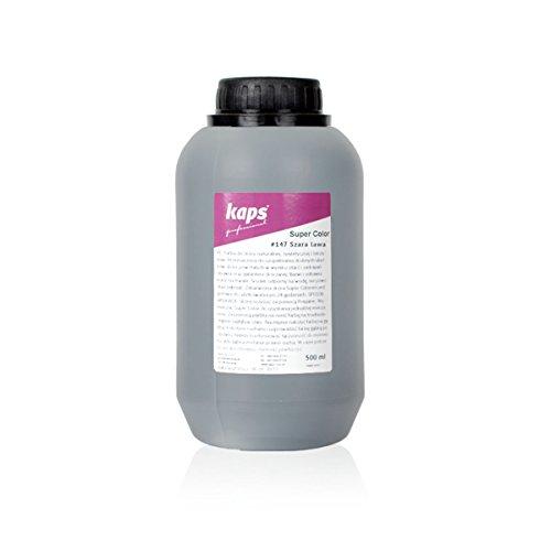 Kaps Pittura Colorante per Pelle e Tessuti Naturali e Sintetici, Super Colour, 82 Colori Standard e Metallici, Bottiglia Grande 500 ml - 16,9 fl. Oz. (147 - lava grigia)