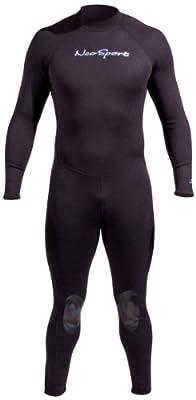 NeoSport Wetsuits Men's Premium Neoprene 1mm Full Suit, Black, XX-Large - Diving, Snorkeling & Wakeboarding