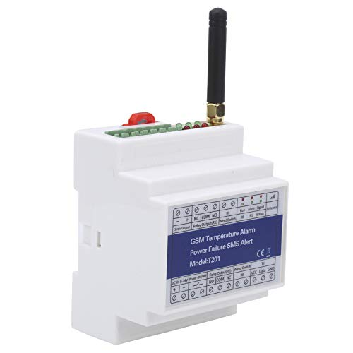 Jeanoko Control Remoto de Temperatura Temporizador Informe Dia-in o SMS Control Remoto Alarma de Temperatura gsm para abridor de Puerta gsm Utilizado para Control de pestillo de estacionamiento