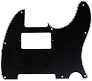 Musiclily 8 Hole Guitar Telecaster Pickguard Humbucker HH for American/Mexican Made Fender Standard Telecaster Modern Style, 3 Ply Black