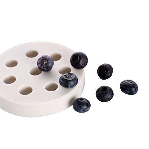 Layla Beauty Store Konditorei Spezialform Muffin Tasse Handgemachte Seifenform Keks Schokolade EIS Kuchen Backform Himbeer Blaubeer Geformte Fondantform Home Schokoladenform,Weiß