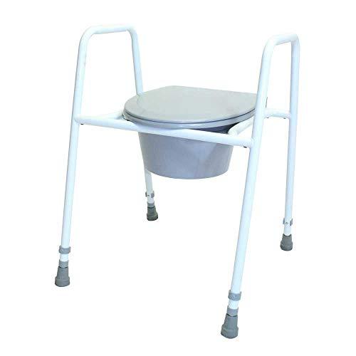 NRS Healthcare - Asiento con tapa para inodoro (altura regulable)