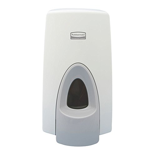 Rubbermaid Commercial Wall Mount Manual Foam Skin Care Dispenser, White, 800 ml Capacity, 2.55-Inch Length x 1.2-Inch Width x 1.15-Inch Height (FG450017)