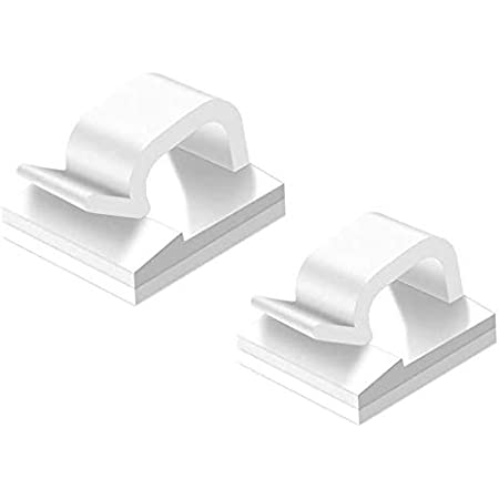 Lindo Soporte de Gesti/ón de Cable de Carga Clip Organizador Autoadhesivo para Cable USB Cable de Rat/ón Cable de Teclado 4 Piezas Clip de Cable