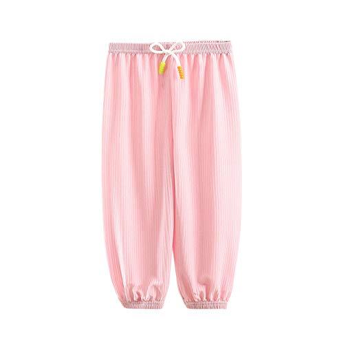 Toddler Baby Jumpsuit Romper Pant,Kids Baby Boy Girl Solid Anti-Mosquito Pants Harem Pant Pyjamas Bloomers Pink
