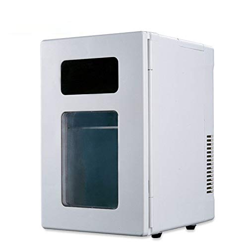 NiubiyaCzbx Mini Fridge, Portable Mini 10L Fridge Beverage Beer Drink Cans Cooler Warmer Freezer Office Car Refrigerator.