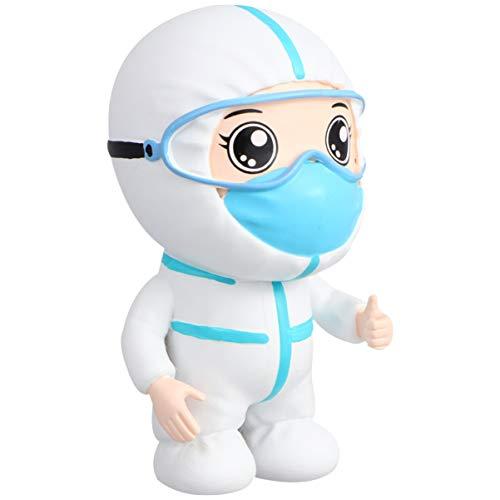 EXCEART 1 Unid Doctor Enfermera Modelo Resina Figura Rebelde Adornos Estatua de Resina Adorno de Escritorio para El Hogar del Coche Escritorio