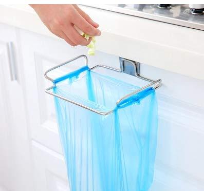 Teabelle Soporte para bolsa de basura – Práctico colgador de puerta para bolsas de residuos – Cuelgabolsas fácil de colocar sobre la puerta – Porta bolsas para remplazar el cubo de basura
