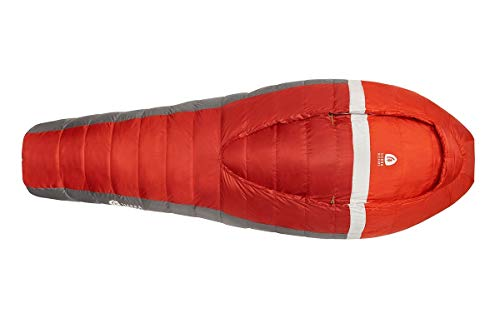 Sierra Designs Backcountry Bed 20, Lightweight Zipperless 20 Degree Backpacking Sleeping Bag with Self-Sealing Footvent, Insulated Hand/Arm Pockets, Comforter Like Design & More