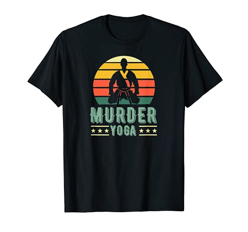 Jiu Jitsu Asesinato Yoga Vintage Sunset Funny Brasileño BJJ Camiseta