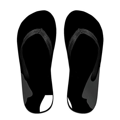 Lustige Boston Terrier Unisex Erwachsene Casual Flip-Flops Sandale Pool Party Hausschuhe Badezimmer Wohnungen Open Toed Slide Schuhe S