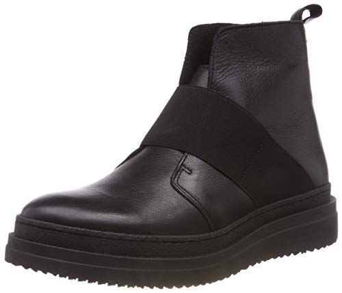 PIECES Damen PSDESSA Leather Boot Stiefeletten, Schwarz Black, 37 EU