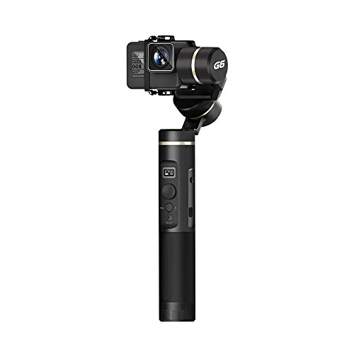 FeiyuTech FY Feiyu G6 3-Axis Splash Proof Handheld Gimbal Updated Version of G5 for GoPro Hero 8/7/6/5/4/3, Yi Cam 4K, AEE Action Cameras of Similar Size with EACHSHOT Mini Tripod