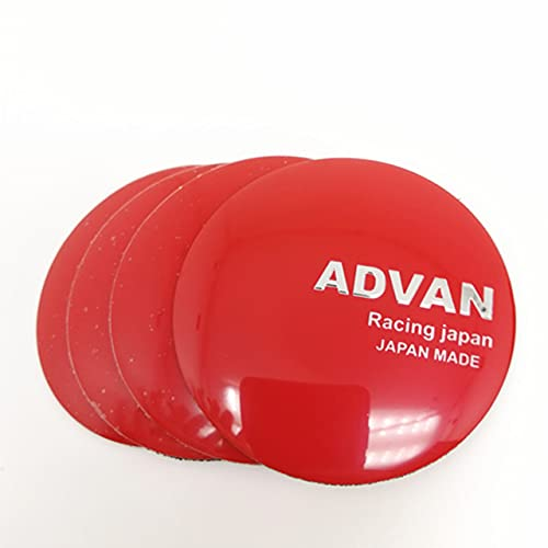 BAQIU 4 stks 60mm Aluminio Auto Center Hub Cap Sticker para ADVAN Racing Japan Car Styling Llantas Hub Cover Cap Emblem