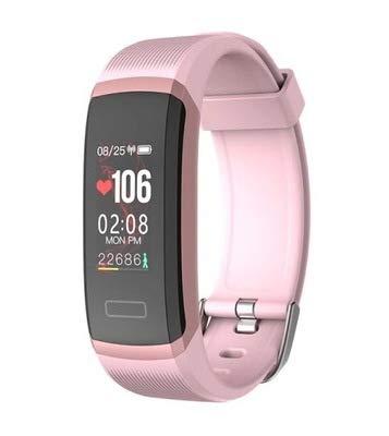 LZW Multifunktionsuhr, smart Sportarmband, wasserdicht, Farbdisplay Fitnessarmband, das für Männer und Frauen, kompatibel mit Android IOS,Pink pink