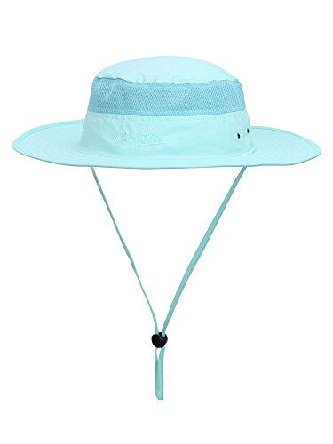 WANYING Unisex Outdoor Sonnenhut Bucket Hut Fischer Hut Buschhut Atmungsaktiv Schnelltrocknend - für Kopfumfang 56-60 cm Türkis